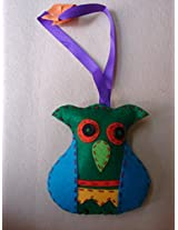 Knitknacks Green Felt Hanging Decoration