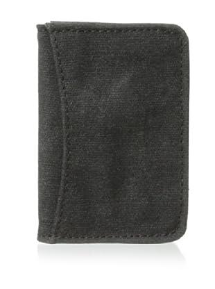 Bosca Men's Field Two Pocket Card Case (Gray/Dark Brown)
