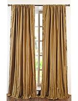 "Deco Window Lurex Sripe Polyester Long Door Curtain - 96""x46"", Gold Beige"