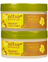 Alba Botanica Hawaiian Body Cream, Kukui Nut, 6.5 Ounce Jar,2 Pack
