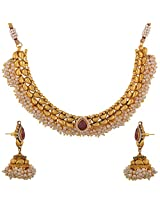 Dishi necklace with jhumki meenamani beautiful looks Charm jewellery set for Women