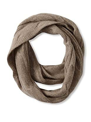 Sofia Cashmere Women's Cashmere Cable Infinity Scarf, Heather Taupe