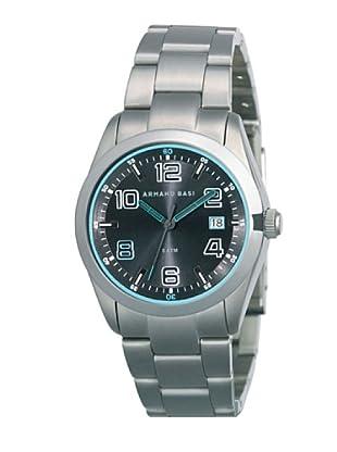 ARMAND BASI A0611G05 - Reloj de Caballero movimiento de cuarzo con brazalete metálico Acero