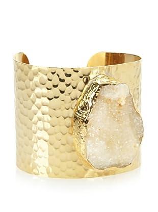 Charlene K Druzy Champagne Gemstone Cuff