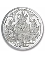 Ananth BIS Hallmarked 999 Purity Silver Coin Ganesha + Lakshmi + Saraswati 10 grams
