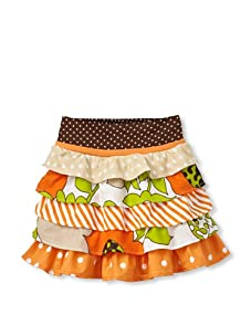Beetlejuice London Girl's Buttercream Novelty Multi Print Layer Skirt (Multi)