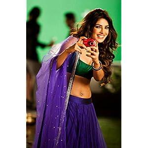 Priyanka designer purple lehenga in nikon advertisement-Frinkytown