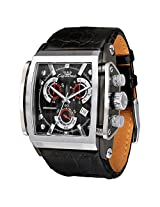 Ciemme Luxury ETA Chronograph Quartz Movement Stainless Steel Black Dial Mens Watch