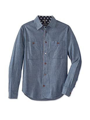 Denim & Leathers by Andrew Marc Men's Atl Selvage Shirt (Atlantic)