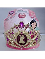 Disney Exclusive Princess Mulan Jewel Girls Golden Tone Tiara Headband Costume