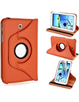 AE 360 Rotating PU Leather Stand Case For Samsung Galaxy Tab3 7.0 P3200 Orange
