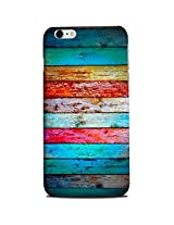 CASE U Back Cover Weathered Wood Rainbow Designer Case for Apple iPhone 6