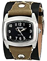 Eos New York Eos New York Unisex 92Lblkgry Fuse Two Tone Leather Strap Watch - 92Lblkgry