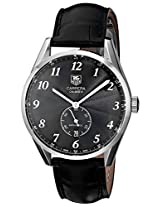 TAG Heuer Men's WAS2110.FC6180 Carrera Watch With Black Leather Band