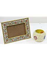 SR Crafts Combo Pack of Marble Photo Frame & Mosiac Tealight Holder