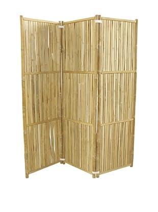 ZEW, Inc. Bamboo 3-Panel Folding Screen, Natural