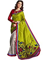 Manvaa silk embroidered casual saree