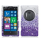 AIMO Dazzling Diamond Bling Case for Nokia Lumia 1020 [AT&T] Waterfall - Purple