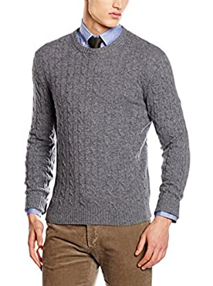 Hackett London Jersey Lana Cable Crew Neck