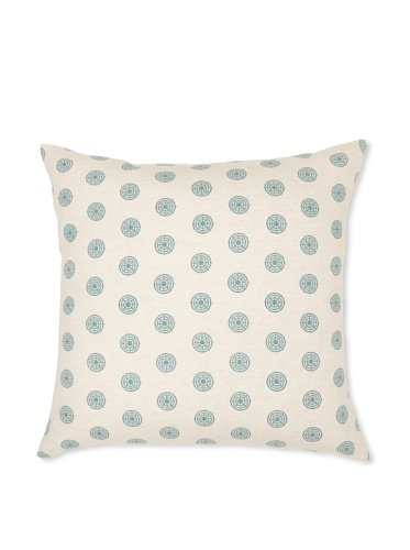Handmade Interiors Chakra Hand Screen Pillow Cover, Duck Egg Blue