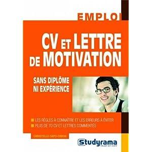 Cv et lettre de motivation sans diplome ni expérience