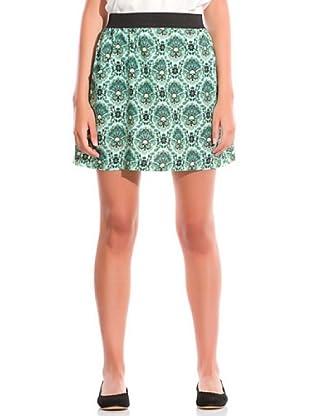 Springfield Falda Estampada (Verde Oscuro)