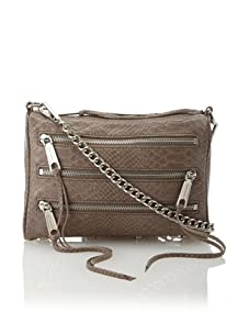Rebecca Minkoff Women's Carmen Zip Shoulder Bag, Putty