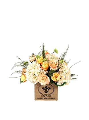 Creative Displays Rose & Hydrangea in Square Jute Container