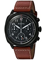 Bulova Analog Black Dial Men's Watch - 98B245