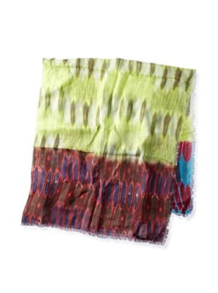 Cut25 Women's Printed Square Scarf (Honey Comb)