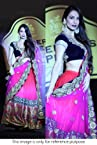 Bollywood Replica Malaika Arora Net and Chiffon and Velvet Lehenga In Blue and Pink Colour 287