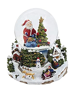 Kurt Adler Musical LED Santa and Tree Waterglobe