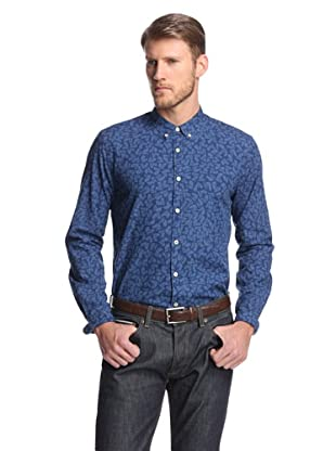 Levi's Made & Crafted Men's Button Down Shirt with Horse Print (Indigo)