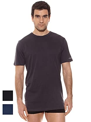 Kappa Pack 3 Camiseta mc Caballero Cuello Redondo 100% Algodón (Surtido)