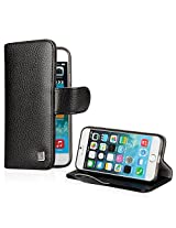 Kayscase Synthetic Leather Book Cover With Slim Soft Gel Case For Apple Iphone 6 - Black