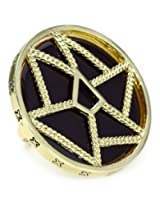 Belle Noel Purple Enamel Dream Catcher Ring, Size 6