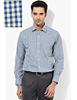Blue Slim Fit Formal Shirt Peter England