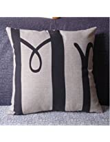 Lovers Valentine Cotton Linen Throw Pillow Case Home Cover (M4)