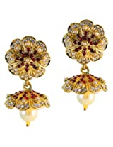 Touchstone Jhumki Earring Set for women - PWETL308-01APRY