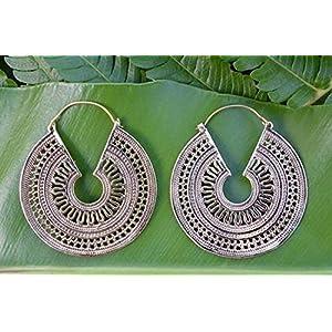 The Desi Soul Silver Baalis Earrings
