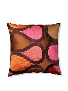 Trina Turk Embroidered Burmese Vine Pillow (Pink)