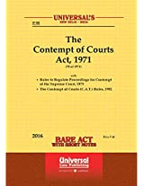 Contempt of Courts Act, 1971 Along with Rules to Regulate Proceedings for Contempt of the Supreme Court, 1975