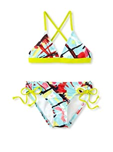 Hurley Girls 7-16 Chaos Triangle and Tunnel Swimwear (Multi)