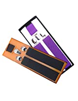 Sunshopping men's Navy blue and Black suspender(WSDWSDSC00016) (black and purple)