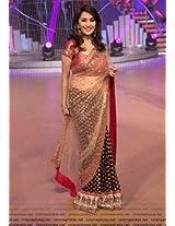 Maroon And Golden Madhuri Dixit Net Bollywood Replica Saree
