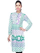 STOP to start Women's Kurta (9351252-Green-X-Small)