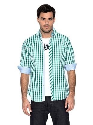 Springfield Camisa Cuadros (Blanco / Verde)