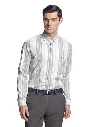 Salvatore Ferragamo Men's Dress Shirt (Multi Stripe)