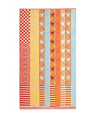 Garnier-Thiebaut Graphic Beach Towel (Coral)