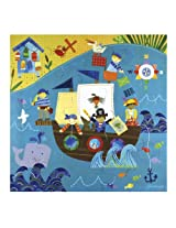 C.R. Gibson Kids Pirate 25 Piece Puzzle, by Jill McDonald